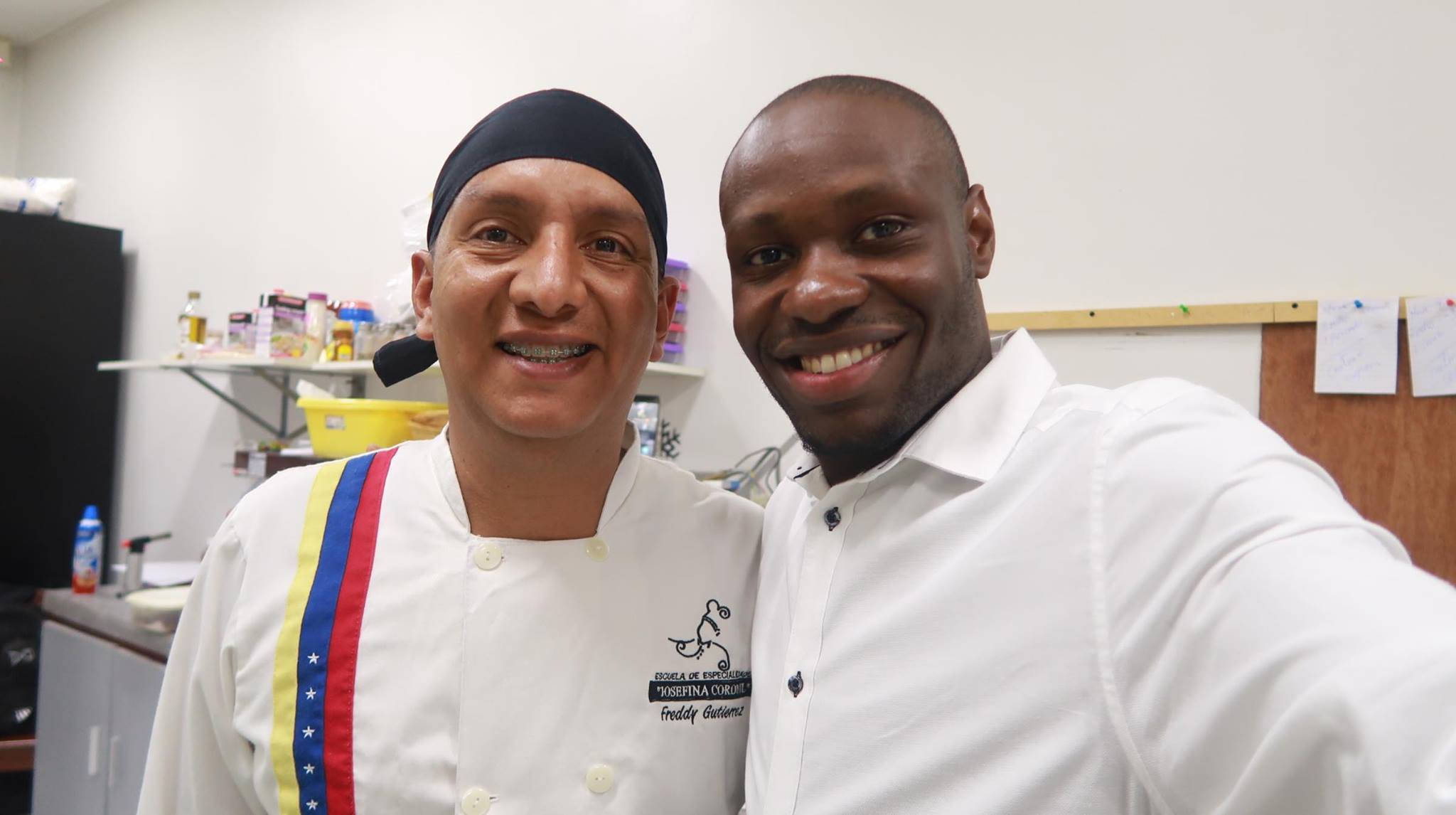 José Semple with the Chef cook