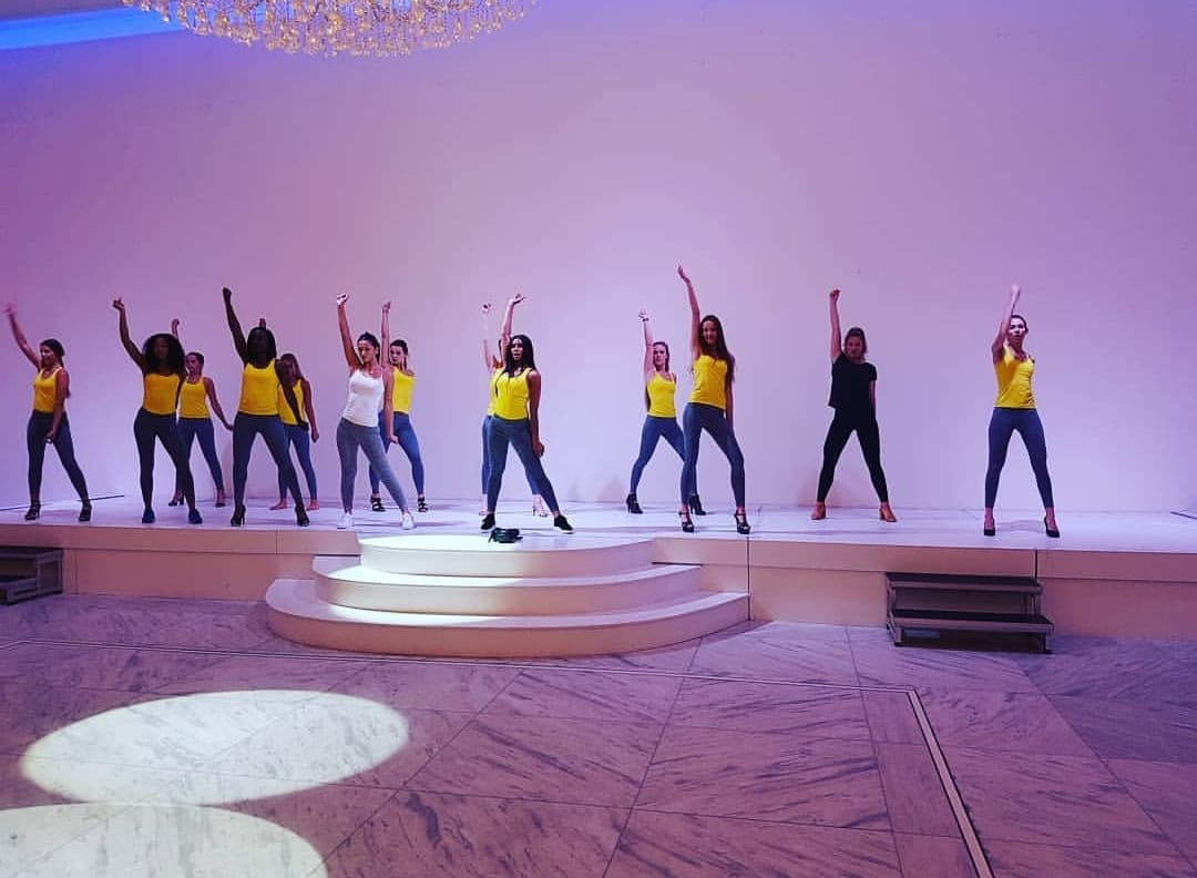 Rehearsal with Miss World Netherlands Finalists coördinated by danceschool UDX and Marlouk Bouman