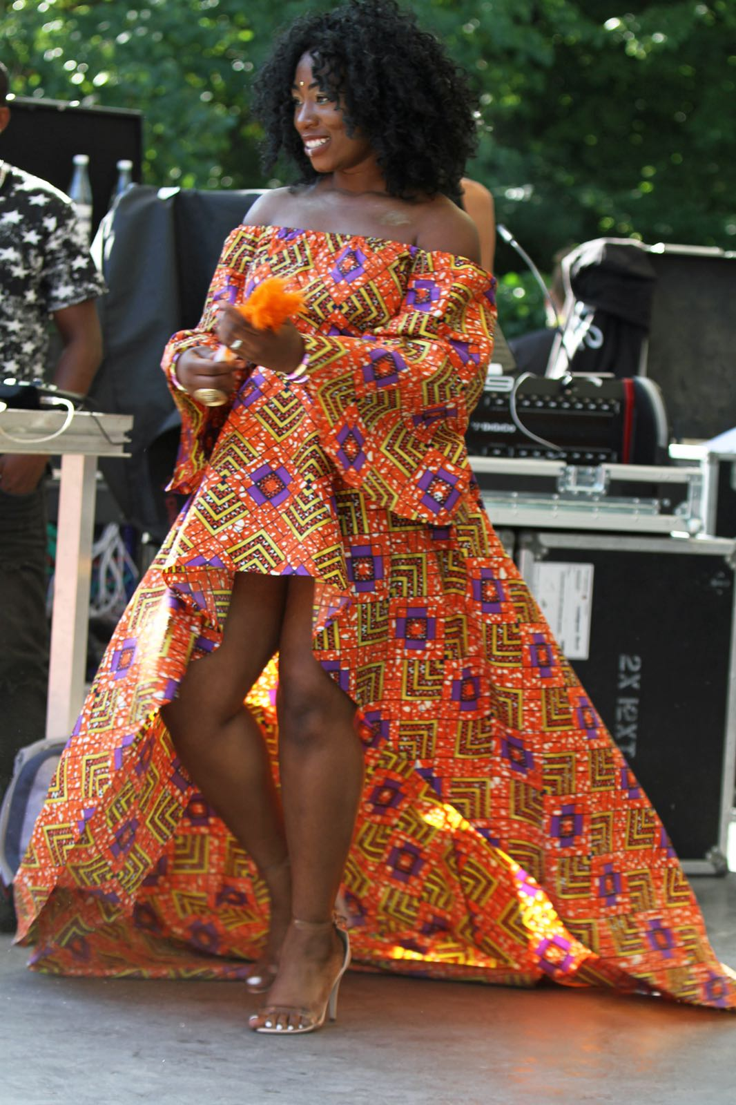 Janet walking the Africa Festival Runway in MAFcouture Clothing